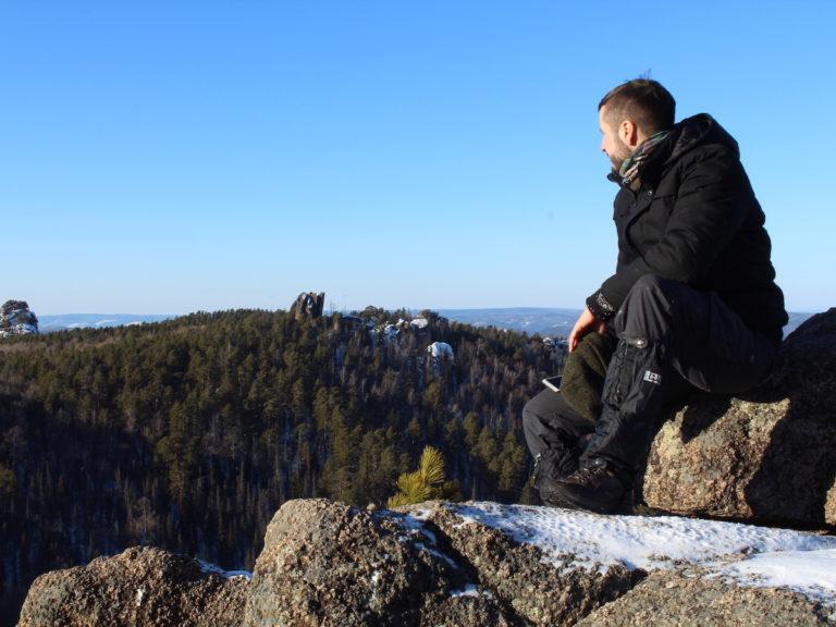 Stolby Naturpark bei Krasnoyarsk entlang der Strecke Moskau Wladiwostok