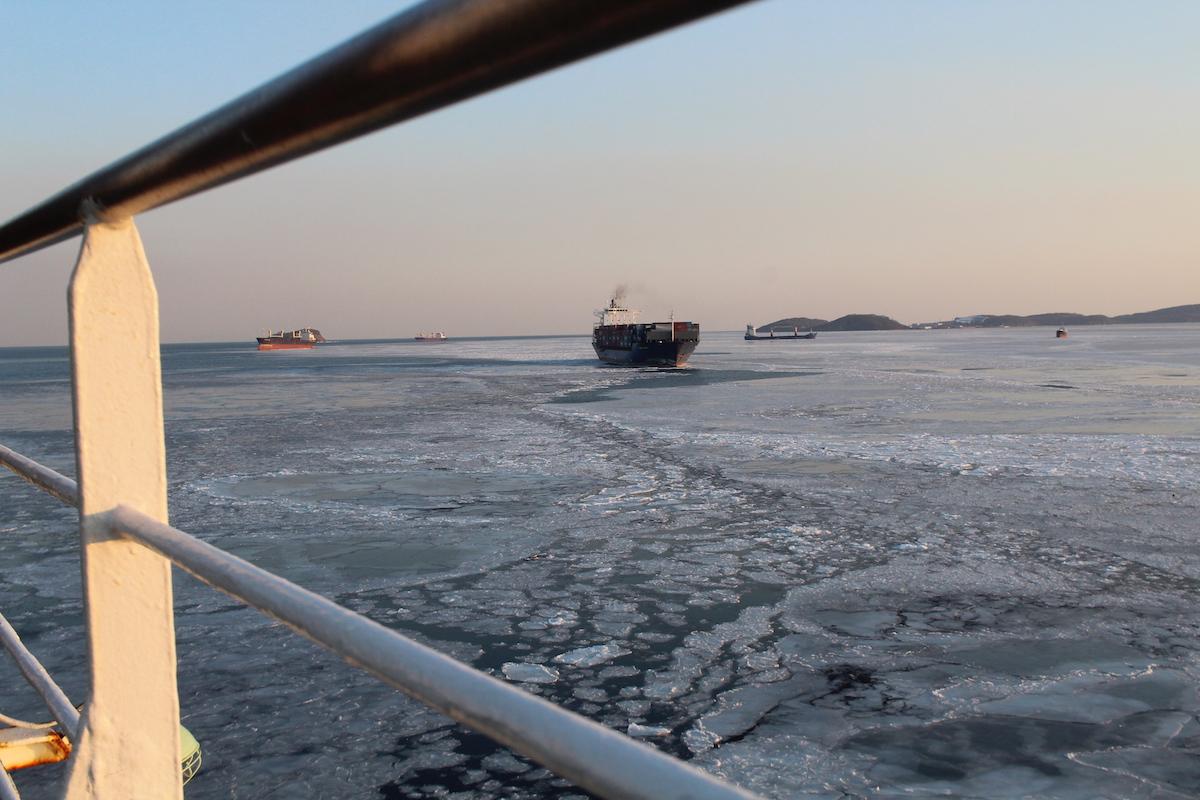 Am Ende der Strecke Moskau Wladiwostok wartet die Fähre nach Südkorea und Japan