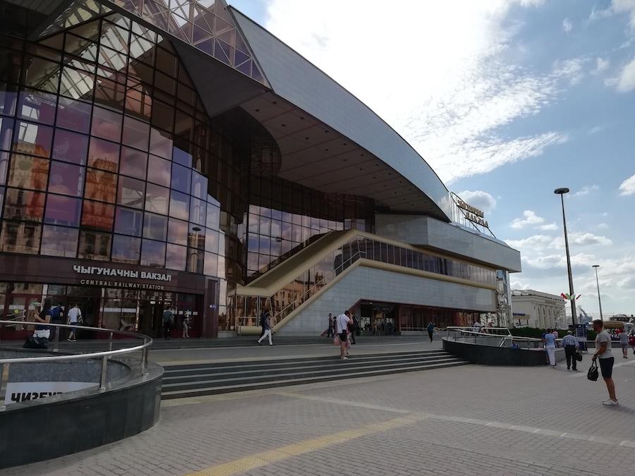Der Minsker Hauptbahnhof