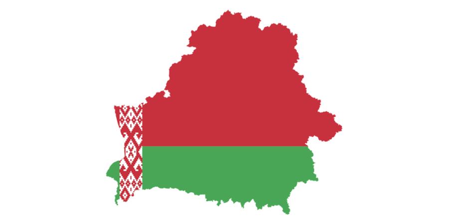 Die Umrisse Weißrusslands