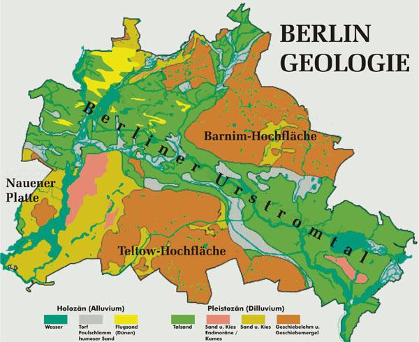Karte der Berliner Geologie