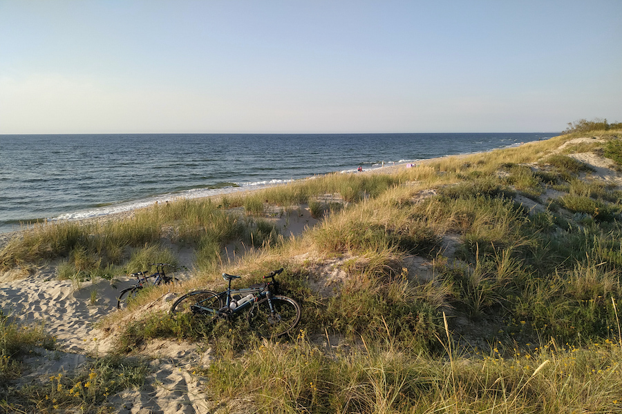 einsamer Strandabschnitt bei Mielno