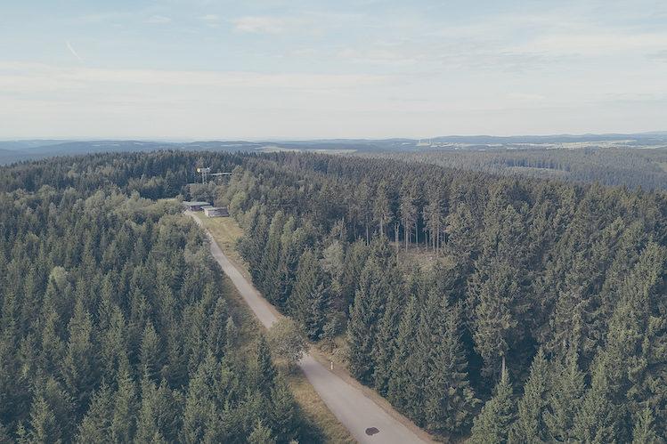 Blick vom Altvaterturm über den Thüringer Südosten
