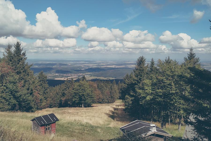 Blick vom Inselsberg nach Norden