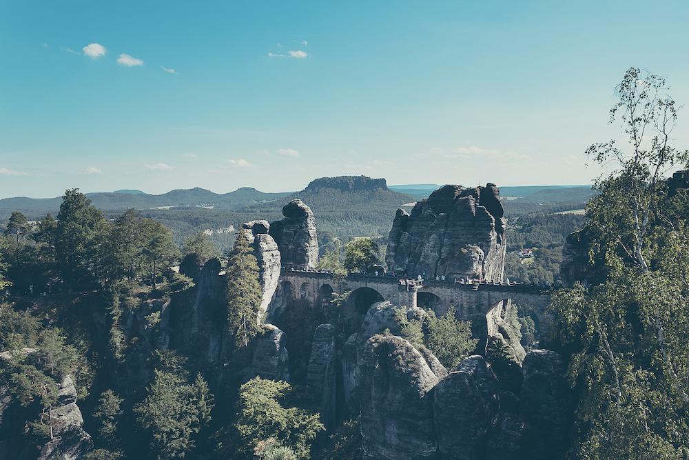 Ausblick auf die berühmte Bastei