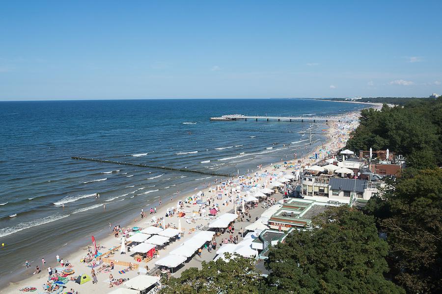 Strand des Kurorts Kołobrzeg