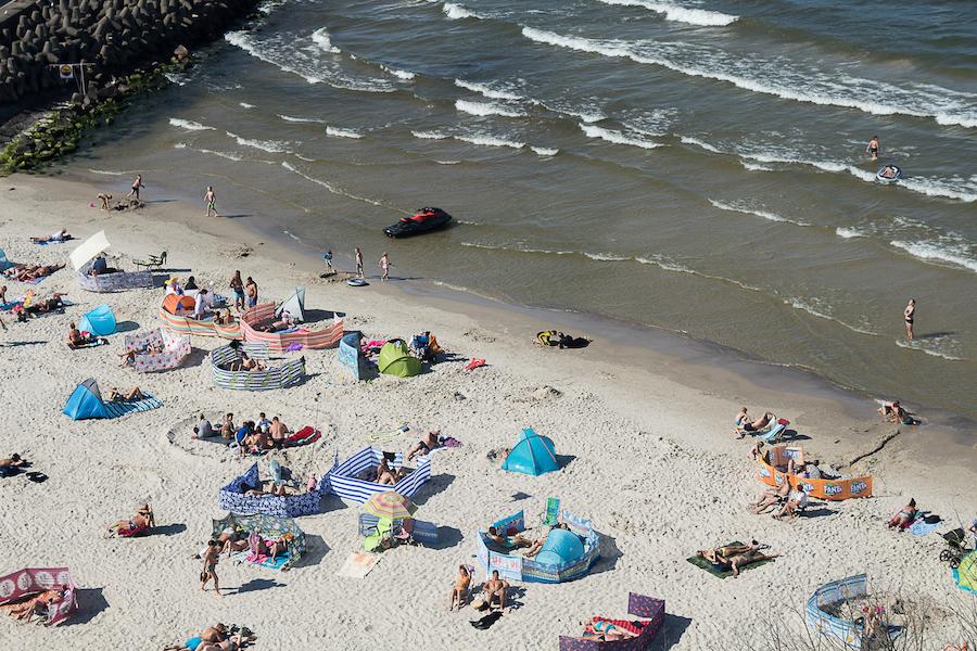 Strandabschnitt an der Mole