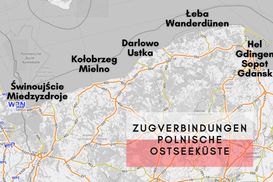 Zugverbindungen an der polnischen Ostseeküste