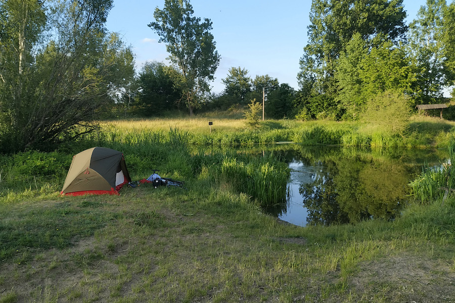 Biwakplatz Neugaul an der Alten Oder