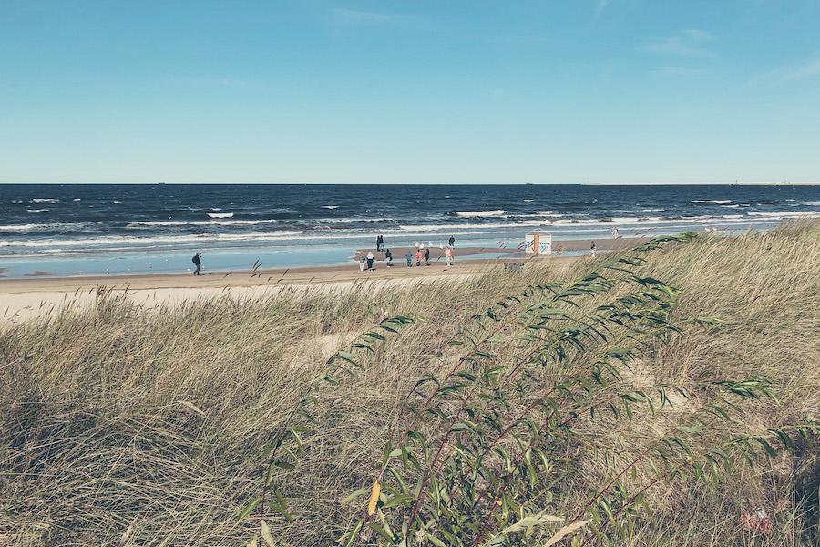 Wellengang an der polnischen Ostsee