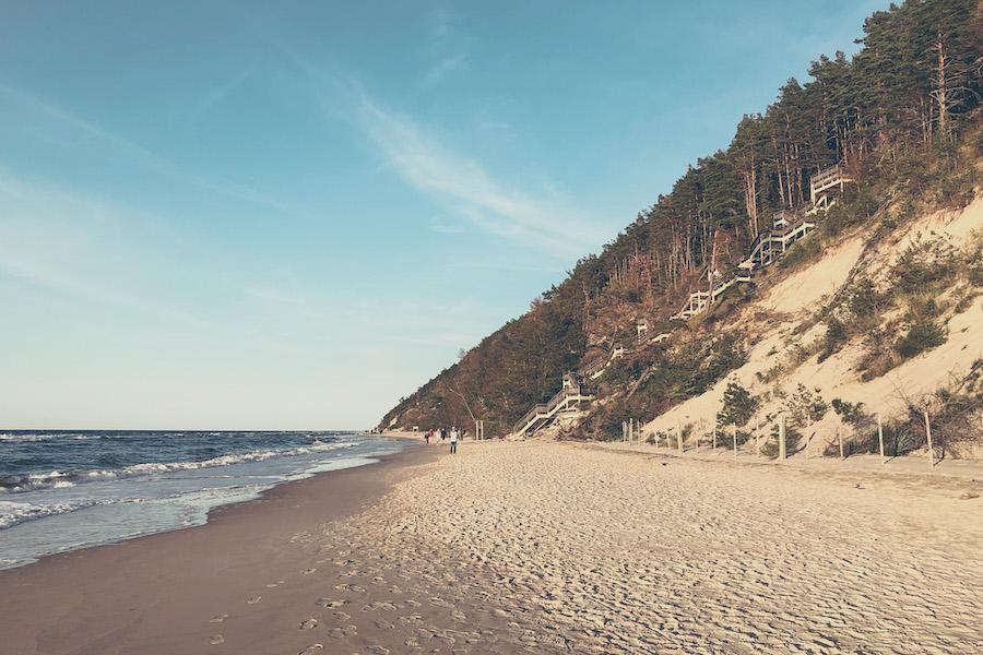 Steilküste auf der Insel Wolin an der Ostsee