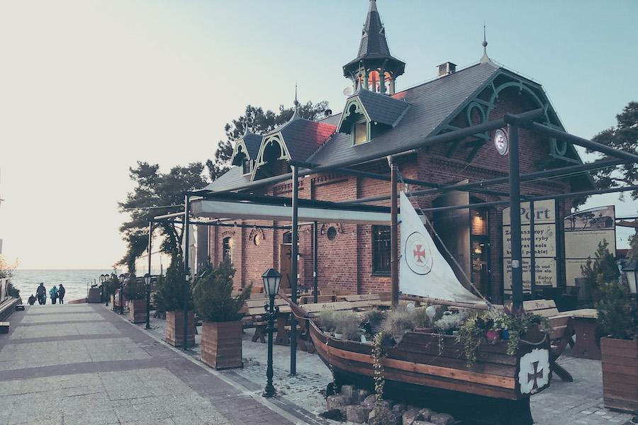 Restaurant an der Uferpromenade Misdroys