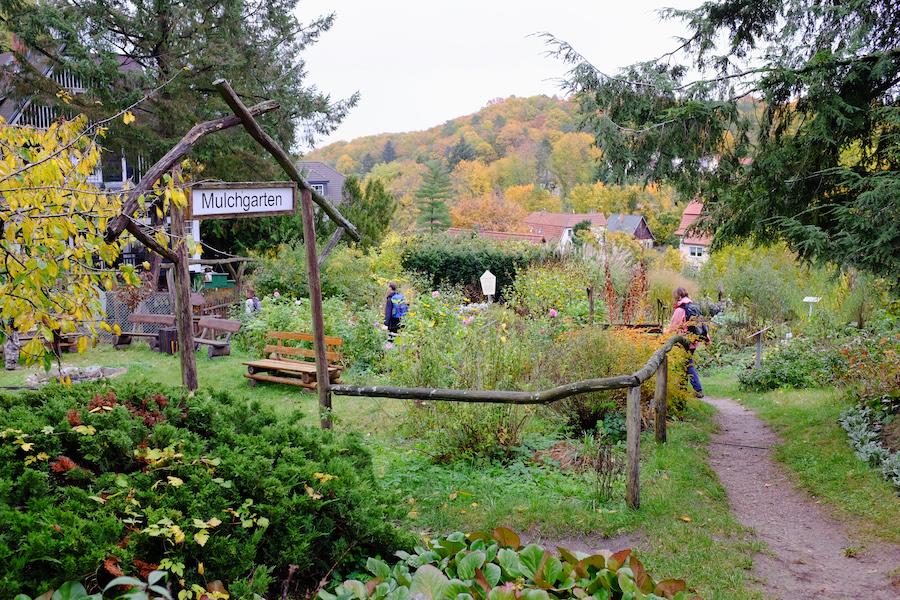 Gartenanlage des Hauses der Naturpflege
