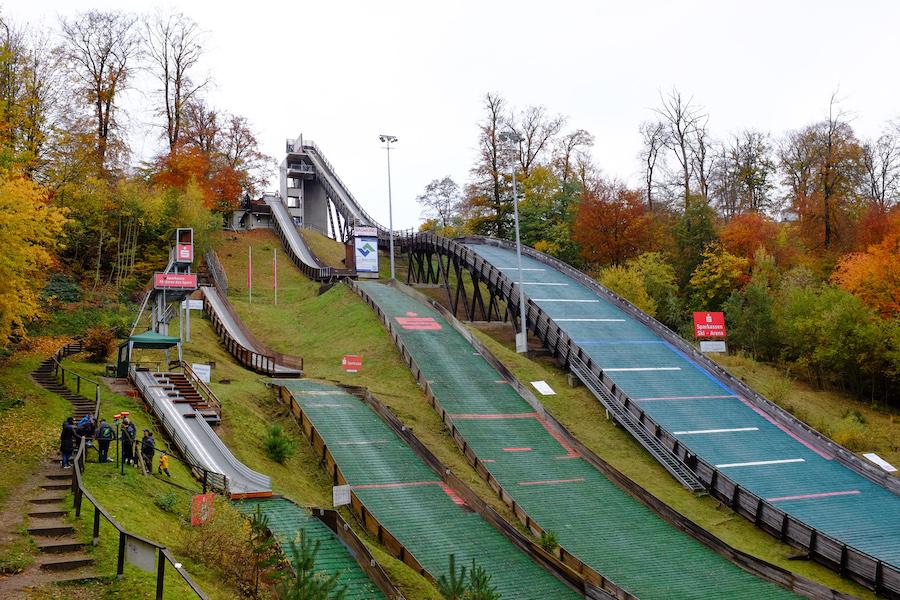 Deutschlands nördlichste Skisprunganlage steht in Bad Freienwalde