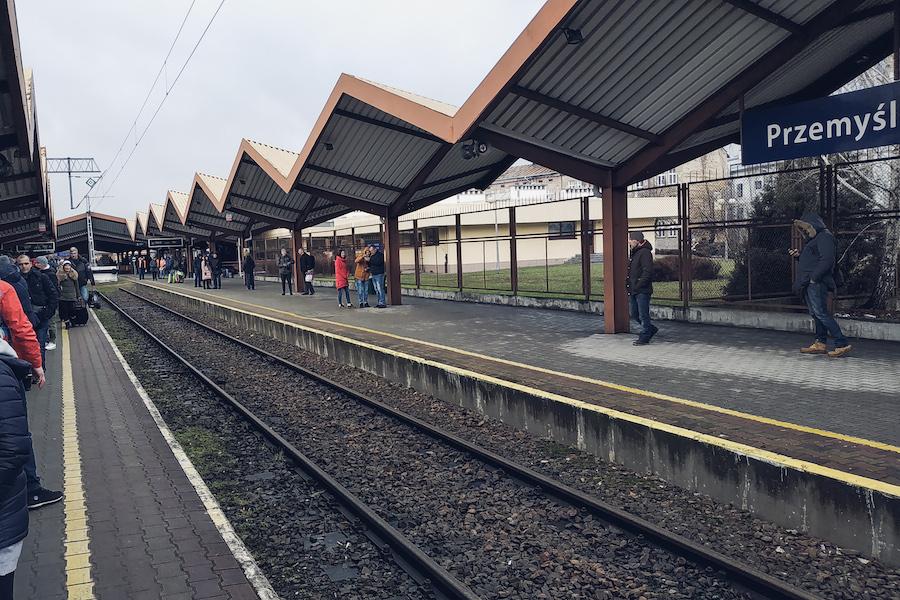 Bahnhof Przemyśl, Polen