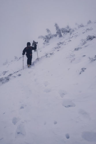 Winterlandschaft in der Karpatenukraine