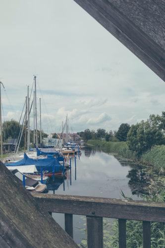 Blick auf Bootsliegeplätze in Ueckermünde