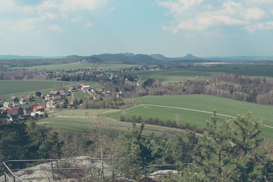 Blick über Schöna, Sächsische Schweiz