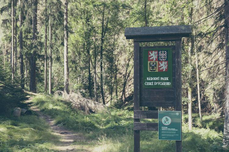Eingang zum Nationalpark Böhmische Schweiz
