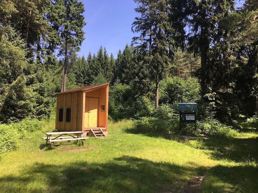 Zschirnstein-Biwak auf dem Forststeig in der Sächsischen Schweiz