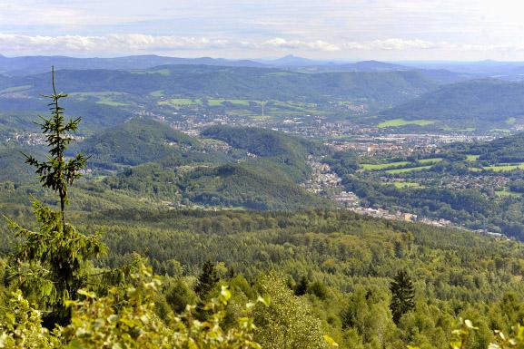 Blick vom Tetschener Schneeberg