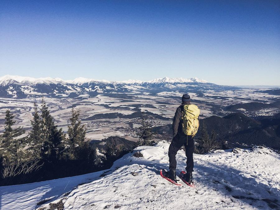 Blick von der Niederen auf die Hohe Tatra