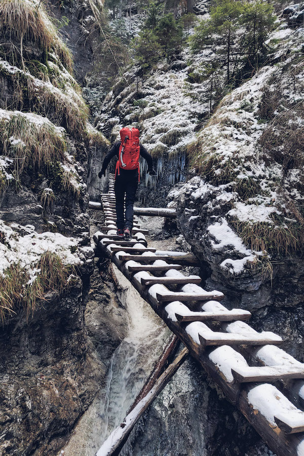 Wanderung durch die Sucha Bela im Winter