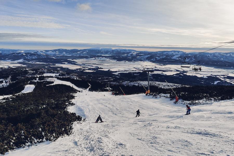 Skifahren in Štrbske Pleso