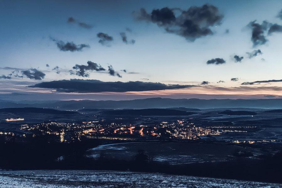 Blick auf Leutschau (Levoča)