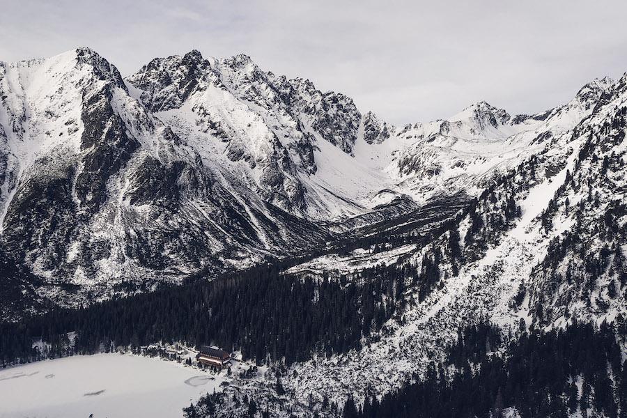 Blick in hinein in die Hohe Tatra