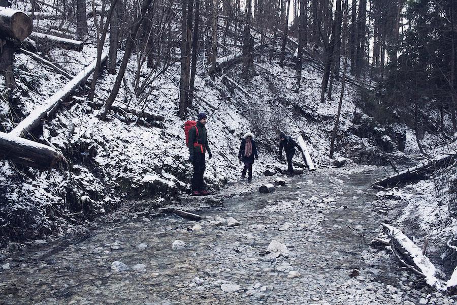 Wanderung in der Sucha Bela, Slowakisches Paradies