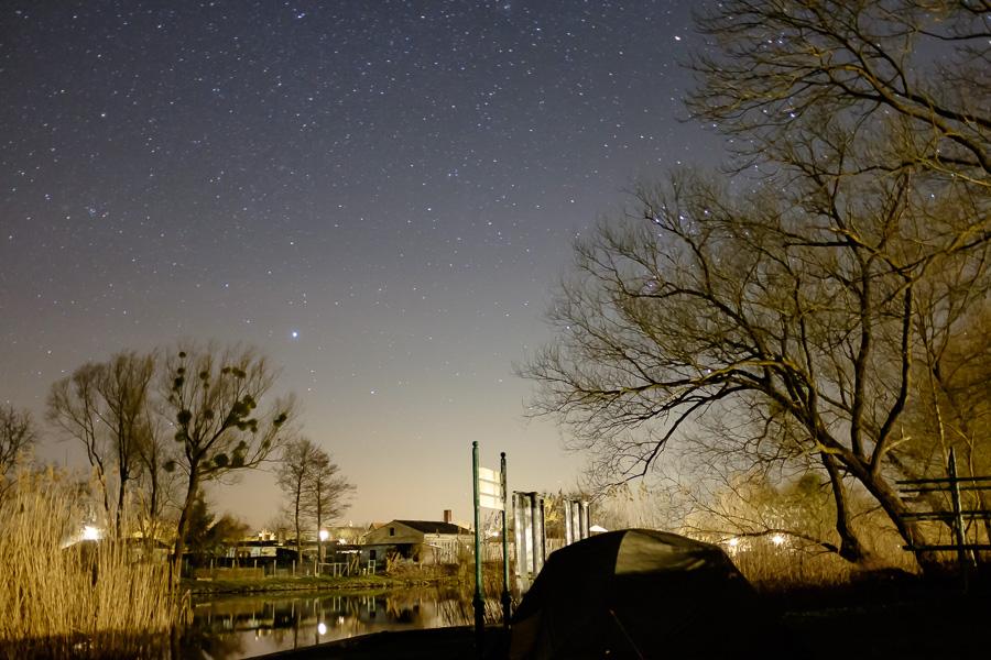 Wasserwanderrastplatz Oderberg unterm Sternenhimmel