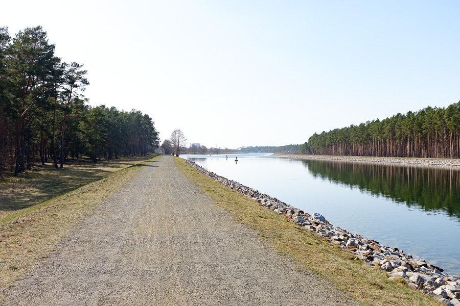 Radweg am Oder-Havel-Kanal in Eberswalde
