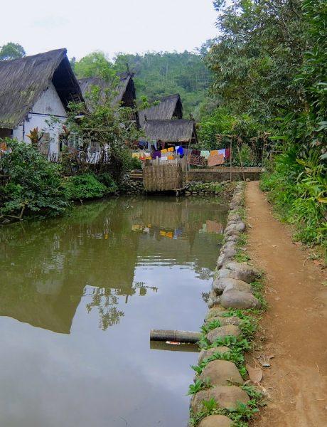 inside a traditonal village of Java, Indonesia