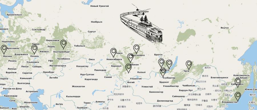 Reise durch Sibirien