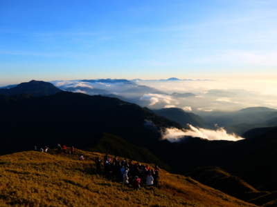 standing on top of Mount Pulag (2.926 metres), Philippines