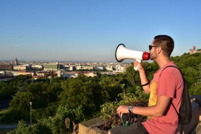 over Budapest, Hungary