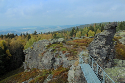 Blickrichtung sächsisches Vogtland auf dem Hohen Stein