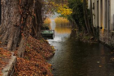 Blick entlang des Flusses Stobbe Richtung Schermützelsee