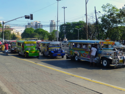 colorful jeepneys in the streets of Manila